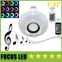 audio control devices - OFF LED RGB Color Bulbs Lights Lamps E27 Wireless Bluetooth Remote Control Smart Speaker Music Audio Speaker For Smart Devices