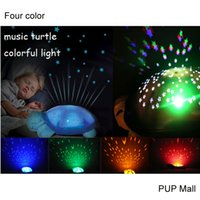 Wholesale LED Musical Toys Turtles Night Light Full Night Sky Projection on Ceiling LED Stars Sky Constellation Lamp Kids Best Children s Day Gift