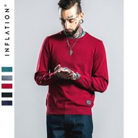 american inflation - INFLATION New Autumn O Neck Wool Soild color Knitting Sweaters Men Pullovers Brands Fashion Casual Men Sweater