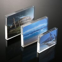 acrylic photo magnets - Magnet photo frame New Stock Clear Acrylic Photo Frames Picture Display Frames With Magents High Quality New Home Decor House Use