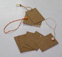 Wholesale 54 mm Creative Vintage Rectangular design DIY Craft paper Gift Tag Bridal Shower Favor Tag Wedding Tags price Tag