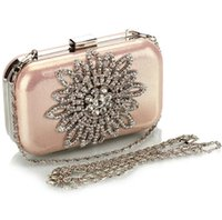 Wholesale Clear Crystal Evening Bag - Diamonds Elegant Evening Bags Clutches Clear Beads Handbag Party Bridal Handbags Hand Bags For Women Fashion Crystal Hand Bags 4 Colors