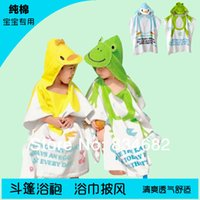 Wholesale 1pcs retail cotton baby beach gown Child bathrobe beach towels baby cloak cape baby bath towel baby bathrobes