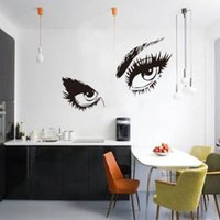 Wholesale NEW Portait FASHION Audrey Hepburn Sexy Eyes Art Home Black Hot Vinyl Wall Stickers Decals Removable W3