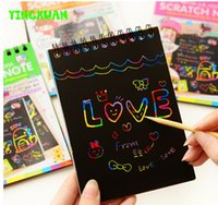 Unisex art doodle book - 10 sets pages set cm Magic Scratch Art Note book Scraping Drawing Children Baby Doodle Toys