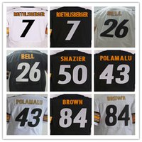 Wholesale New Ben Roethlisberger Terry Bradshaw Le Veon Bell Jerome Bettis Troy Polamalu Ryan Shazier Antonio Brown