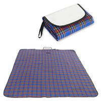 Wholesale Foldable Beach Picnic Outdoor Mat Large Size Water resistant Outdoor Pad All purpose Plaid Blanket with Waterproof Backing