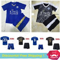 kids jerseys - Kids Leicester City Jersey Soccer Jersey Boy MAHREZ Maillot De Foot Children Youth Leicester City VARDY MAHREZ Jersey Set