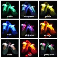Wholesale Party Fashion trend Skating Charming LED Flash Light Up Glow Shoelaces Shoe Laces Shoestrings