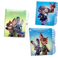 Wholesale Prettybaby Zootopia Notebook Student Writting Diary Judy Nick cartoon Book Student secret Notepad with Password School Pt0412 la