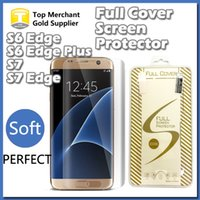 soft packaging - Note S6 S7 Edge Plus Full Cover D Curved mm Soft PET Explosion Proof Screen Protector Shield For S6 Edge With Retail Package