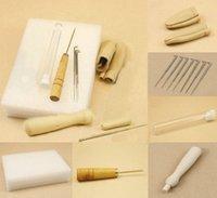 aluminum wool - set fibre Needle Felting Starter Kit Wool Felt Tools Mat Needle Awl finger stall Accessories Craft