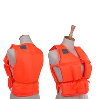 Wholesale NEW Adult Polyester Safety Life Jacket Universal Swimming Underwater Drifting Boating Ski Surfing Vest With Whistle