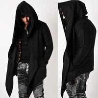 Wholesale Trendy Mens Fashion Tops Shirts Outwear Jacket Diabolic Hooded Cape Coat For MENS WARM WINTER CLOTHInG