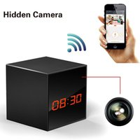 android digital clock - Wireless Hidden Spy Camera Smart Clock P2P WiFi Digital Video Recorder Remote Control for IOS iPhone Android Phone APP Remote CL10D