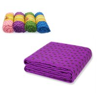Wholesale Popular Yoga Mat Cover Towel Soft Comfy Travel Fitness Exercise Sports Towel Microfiber Pilates Towel Blanket x61CM MD0026 salebags