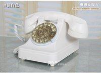 antique rotary telephone - TQJ White rotary dial Mechanical ringtones European antique vintage telephones