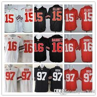 Wholesale Top quality Football Jerseys Joey Bosa Ezekiel Elliott College Jersey Red Black NCAA