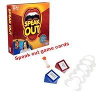 Wholesale Sale crazy set Christmas New Years party New arrival Speak Out Game KTV party game cards party Christmas gift newest fast shipping