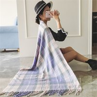 Wholesale 2016 new style Winter warm scarf shawl mix Lattice scarfs for women imitation cashmere scarf thicker tassels Air conditioned rooms Shawl