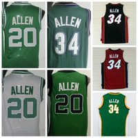 allen white - Hot Retro Ray Allen Uniforms Jesus Shuttleswort Jersey Film lincoln School Shirt Rev Red White Green Black Yellow Purple