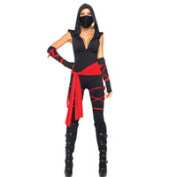 adult black ninja costume - New Adult Womens Sexy Black Halloween Party Ninja Costumes Outfit Fancy Cosplay Dresses With Mask
