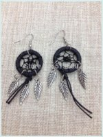american origin - Native American Style Earring Dream Catcher earring With alloy feather charms Hot Sell earrings origin