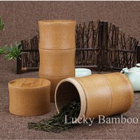 Wholesale Style Kitchen Storage Bottle Bamboo Tea Boxes Chinese Handmade Tea Canister Spice Seal Storage Jars NEW Special Holiday Gifts