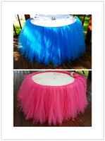 Wholesale Table Skirt cm x cm Tulle Tutu Table Skirt For Wedding Party Baby Shower Decor Color
