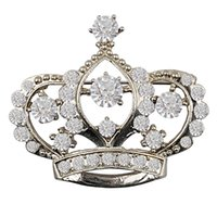Wholesale 1pcs drop shipping White fashion brooch crown brooch inlaid jewelry factory direct