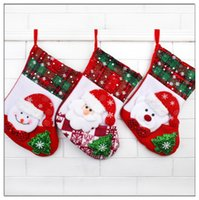 Wholesale sales Snowflake cloth Christmas Stocking Christmas decorations Christmas decorations Gift wool non woven fabric