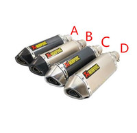 atv mufflers - Motorcycle Modify Scooter ATV CBR125 CBR250 CB400 CB600 YZF FZ400 Z750 Akrapovic Exhaust Muffler Pipe Nice Sound
