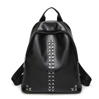 Wholesale 2016 new style fashion PU rivet preppy style backpack female package handbag single shoulder bag