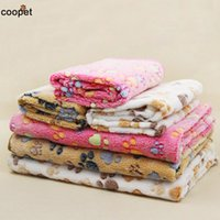 Wholesale Cute Warm Pet Bed Mat Cover Small Medium Large Towl Paw Handcrafted Print Cat Dog Fleece Soft Blanket Puppy Winter Pet Supplies