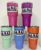 Wholesale In stock Yeti cup Powder Coated oz Yeti Rambler YETI Coolers tumbler Tumbler Stainless Steel Double Walled Travel Mug YETI c