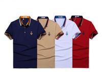 big business t shirt - Male summer new cotton short sleeved shirt lapel mercerized cotton men s business big yards T shirt M XL