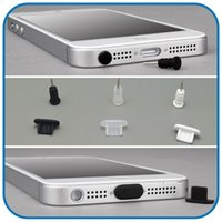 Wholesale Black White Clear Silicone Anti Dust Plug Charge Charging Port Headphone Jack For iPhone S Plus SIM Card Pin Neddle