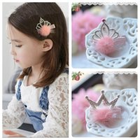 best hair bows - Best Selling Lovely Kids Hairpins Crown Beaded Crystal Feather Princess Flower Girl Hair Bows Barrettes Children Baby Hairpins Rhinestone