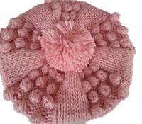beret crochet - Fashion Womens Winter Warm Knit Crochet Ski Hat Braided Baggy Beret Beane handmade caps hat winter hat