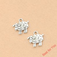 aries jewelry - 100pcs Tibetan Silver Tone Tiny Sheep Aries Charms Fashion Pendants Jewelry Diy Jewelry Findings x15mm jewelry making
