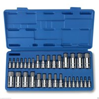 allen key wrench - 32 PC MASTER ALLEN WRENCH BIT KIT HEX KEY FOR RATCHET SOCKET TOOL SAE METRIC SET