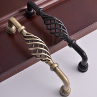 antique office furniture - iron classical vintage bronze black Kitchen Drawer dresser cupboard Pull Knob antique ashley furniture office Cabinet Wardrobe cage handle