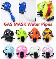 Cheap Gas Mask Mask Hookah smoking mask Gas Mask Water Pipes Sealed Acrylic Hookah Pipe Bong Filter Smoking Pipe Free DHL