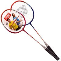 Wholesale Double happiness DHS E MX101 badminton racket pack has worn line