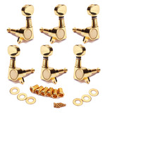 acoustic guitar finish - 3R3L Guitar Tuning Pegs Tuners Machine Heads chrome Sunken Buttons Right Hand Chrome Finish for Acoustic Electric Guitar