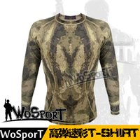 Wholesale ALWS01 Manufacturers selling outdoor hunting sportswear shirt Quick dry camping clothing tight long sleeves T shirt free ship