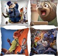 disney plush - 2016 Crazy Town Disney Animal Plush pillow Zootopia Nick fox rabbit doll Judy House Cushion biga generation of fat