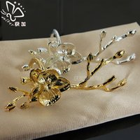 Wholesale 2016 New with the ring of the plum table napkin ring table napkin ring of high end new metal crafts meal