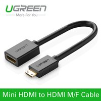 Wholesale Ugreen Mini HDMI Type C Male to HDMI Female Type A Adapter cable M F Converter Convertor for tablet pc tv mobile phone P