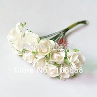 array display - box array cm Artificial Paper Flower DIY Card and Gift Box Rose Flower Bouquet White